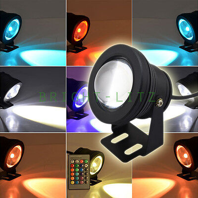12V LED Underwater Pond Fountain Light Lamp RGB Colored Beam Atmosphere Light AU