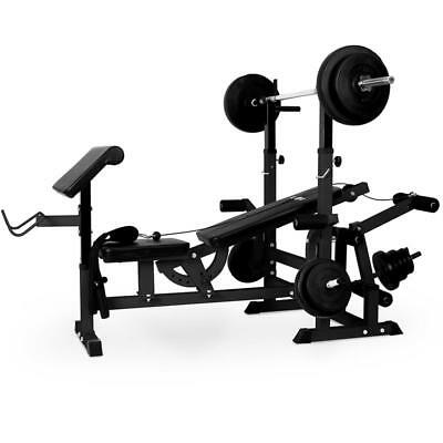 Klarfit Power Station Multi Gym Bench Press Cable Pull Leg Curl Butterfly Home