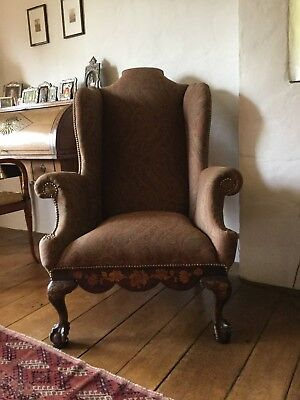 High Back Wing Armchair - 19th Century