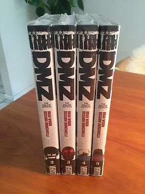 4X DMZ Deluxe Edition Book Hardcover – #2, 3, 4 & 5 - NEW sealed) - Brian Wood