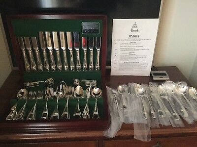 Oneida Astragal silver plated cutlery set 12 place settings