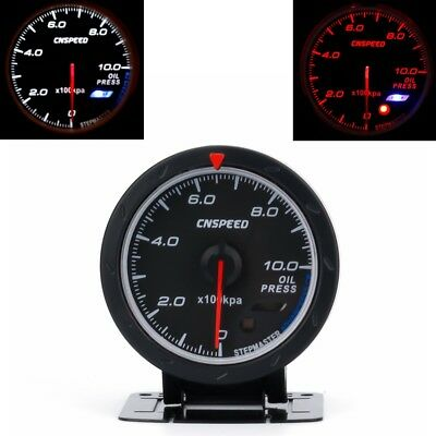 """Universal 2.5"""" Oil Pressure Gauges Electrical Auto Car Meter LED Glow Monitor"""