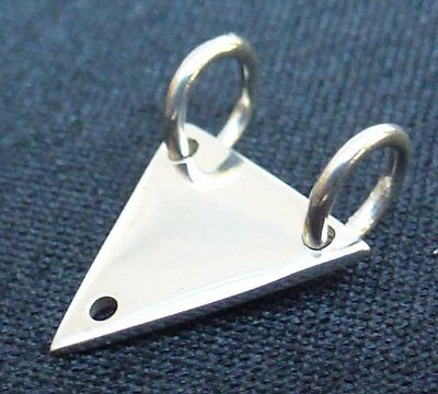 Sterling Silver Small Tri-Triangle Link Connector with Closed Jump Rings
