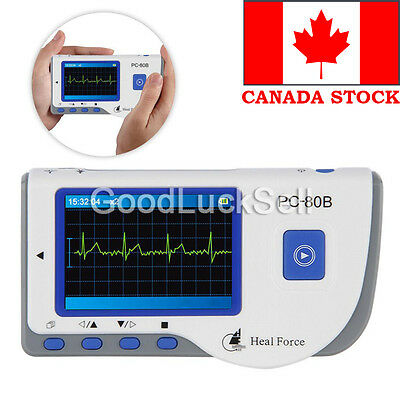 Heal Force Portable Handheld Color ECG EKG Heart Monitor + Lead Cable& Electrode