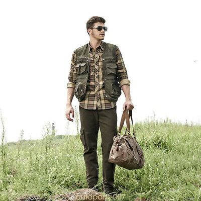 For Outdoor Hunting Fishing Camping Camouflage Waistcoat Vest Jacket Coat as07
