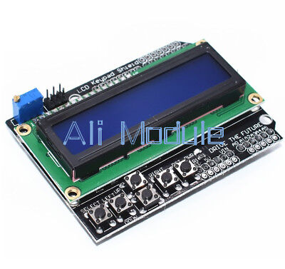 1PCS Practical L1602 LCD Board Keypad Shield Blue Backlight For Arduino Robot