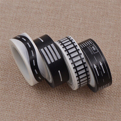 10M Adhesive Tape Railway Road Washi Scrapbook Tapes Traffic Road Floor Stickers