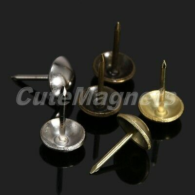 100pcs Upholstery Nails Tacks Round Head Studs Pins For Furniture Sofa Antique