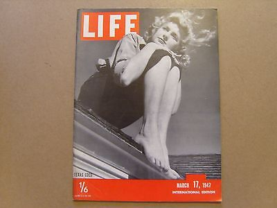 LIFE MAGAZINE INTERNATIONAL EDITION - 17th MARCH 1947 - IMAGES FOR CONTENTS
