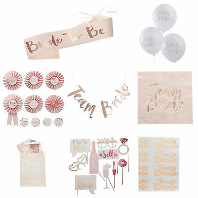 Team Bride to be Hen Night Party Sash, Balloons, Badges, Tattoos etc