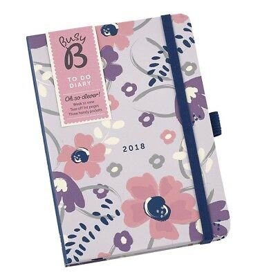 Busy B Floral 2018 To Do A6 Diary BRAND NEW & SEALED