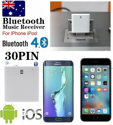 Bluetooth 4.0 Receiver Speaker 30Pin Adapter for Samsung S7 S6 S5 S8 LG G6 G5 G4