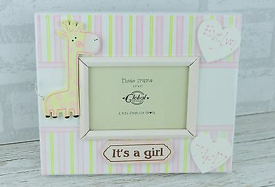 Personalised Baby Photo Fame Girl Pink Elephant Scan Nursery 3.5 x 5 SG1286/C