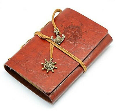 Light Brown Classic Nautical Retro Vintage Leather Notebook Diary Kraft Journal