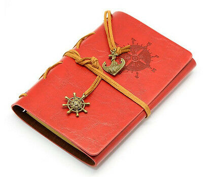 Yellow Brown Classic Nautical Retro Vintage Leather Notebook Diary Kraft Journal