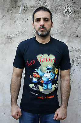 Sesame Street Muppets Tv Show 1999 Vtg T shirt 2 tenors and a baritone TOP S