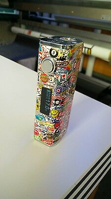 Sticker Cover Stickerbomb eLeaf iStick Express Kit TC40W 2600mAh Schutz Hülle
