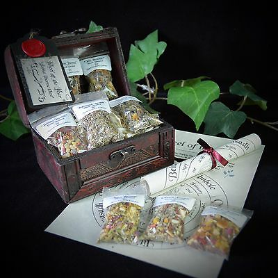 8 Sabbat Grain Incense & CHEST Wheel of Year poster Wiccan Pagan Gift