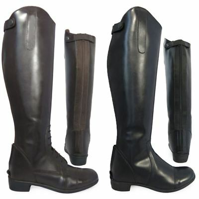Adults Equi-Leather Horse Riding Showing Jumping Jodhpur Long Boots Size UK 3-10
