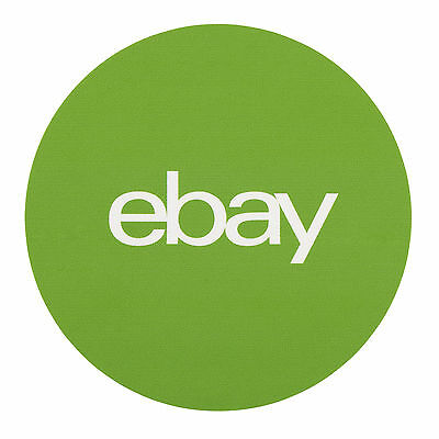 "Green, Round eBay Branded Stickers 3"" x 3"""