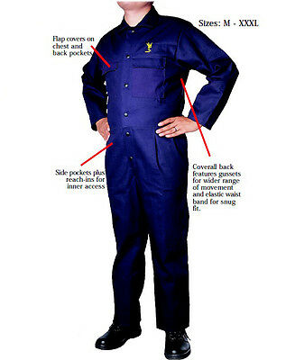 Blue FR Welding Coverall Safety Clothing Flame Retardant Cotton Welder Jackets