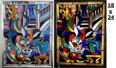 Stained glass pictures hand made. This is not a China.   Please select the item