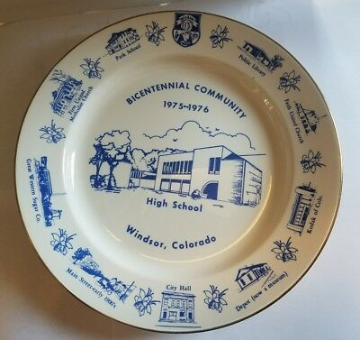 Windsor, CO  High school Vintage Collectors Plate 1975-1976,