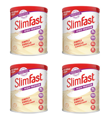 4 SlimFast High Protein Powder Diet Weight Loss Powder Shake Replacement Meal
