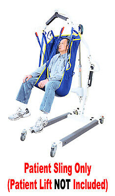 NEW Universal Mesh Patient Lift Sling WITH HEAD SUPPORT Use With Most Lifts