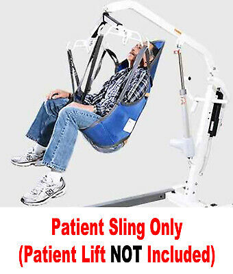 NEW Patient Lift Sling WITH HEAD SUPPORT Use W/ HOYER And Most All Lifts