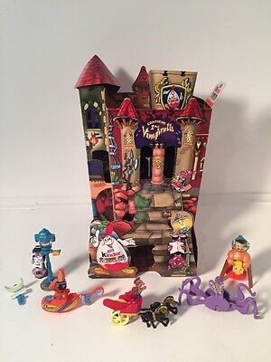 Kinder Eggs Lot of Vintage Toys Vampire Chariot Castle Display