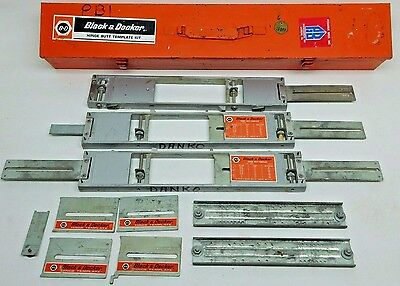 USED Black & Decker Hinge Butt Template Kit Door SEE PHOTOS! FREE SHIPPING! YU