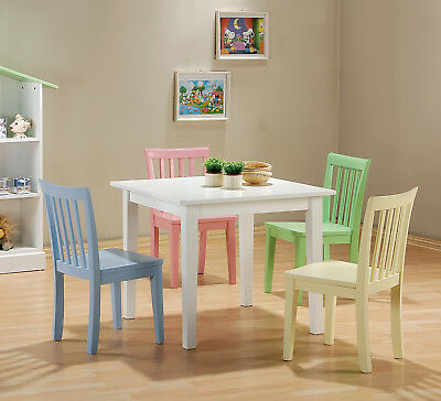 Coaster Table With Chair In Multi Color 460235