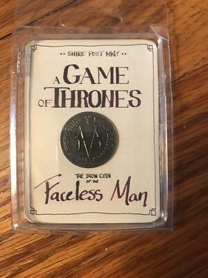 Iron Coin of the Faceless Man - Game Of Thrones - Shire Post Mint - 881314431618