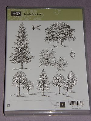 "Stampin Up Stempelset ""Lovely as a Tree"" NEU Weihnachten Tannenbaum Herbst"