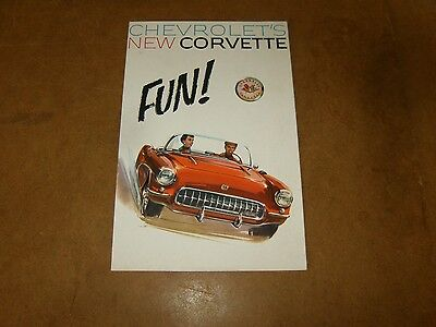 CHEVROLET NEW CORVETTE - original catalogue brochure 1956 - FUN - CORVETTE C1