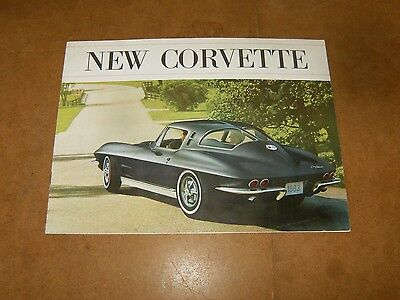CHEVROLET NEW CORVETTE - original catalogue brochure 1963 - CORVETTE C2