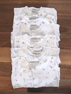 Six MARQUISE Baby Bodysuits/Jumpsuit/Romper for Boy, Girl, Unisex 100% Cotton