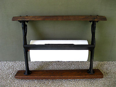 """Antique Paper Roll Cutter THE WRIGHT Primitive 12"""" Country Store Boston MA"""
