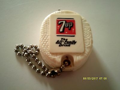 """Vintage 7-UP """"The All- Family Drink"""" MEASURING TAPE KEY CHAIN 1950's"""