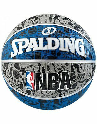 Spalding NBA Graffiti Durable Rubber Cover Max Grip & Control Outdoor Basketball