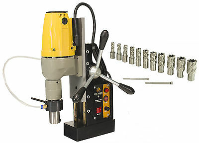 "Steel Dragon Tools® MD40 Magnetic Drill Press with 13pc 1""  HSS Cutter Kit"