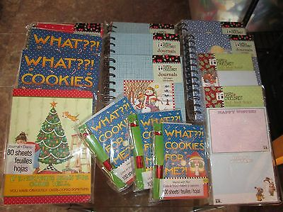 Mary Engelbreit Christmas MIXED LOT Journals, Self Stick Notes, Memo Pads NEW