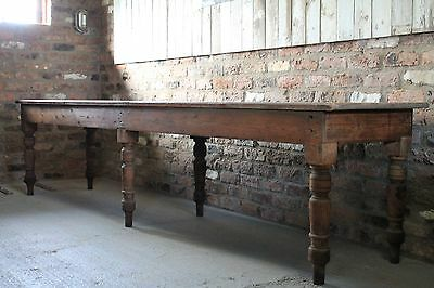 Victorian Mill Table ,Large Pine Table ,Original Victorian Pine Table