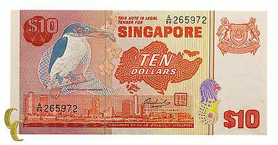 1979 Singapore $10 Note (XF) Extremely Fine Condition