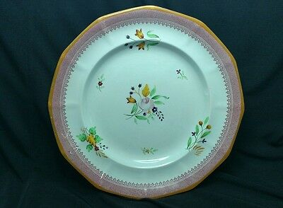 Adams Calyx Ware #2087 Hand Painted 10'' Dinner Plate Plate Red Mark