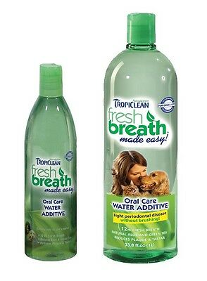 Pet Fresh Breath Water Additive Clean Dogs Teeth Gentle Formula - Choose Size
