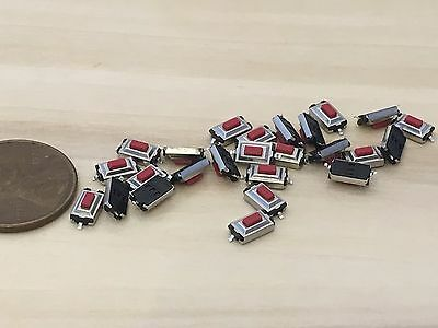 25 Pieces RED 3 x 6 x 2.5 mm Tactile Tact Push Button Micro Switch Momentary C33