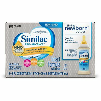 96 PACK Similac Pro-Advance Infant Formula with 2'-FL HMO for Immune Support 2oz