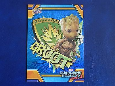 2017 UD Guardians of The Galaxy Vol. 2 BLUE FOIL RB-31 Groot